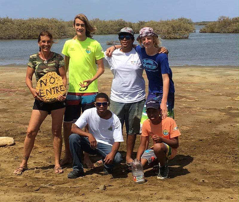 The Mangrove Center, with STINAPA Junior Rangers, Helping Nesting Birds